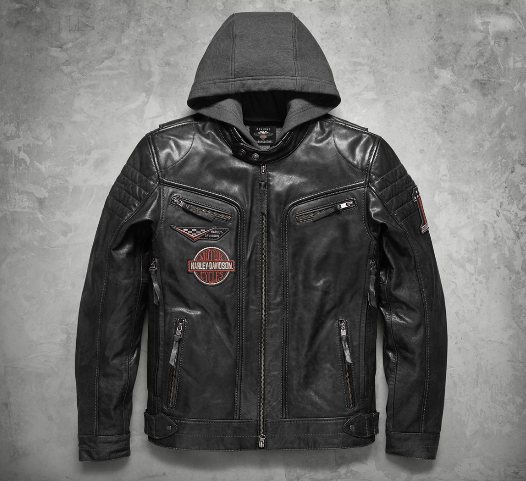 Harley Davidson Hooded | HB Leather Jacket #3 | HB Leather ...